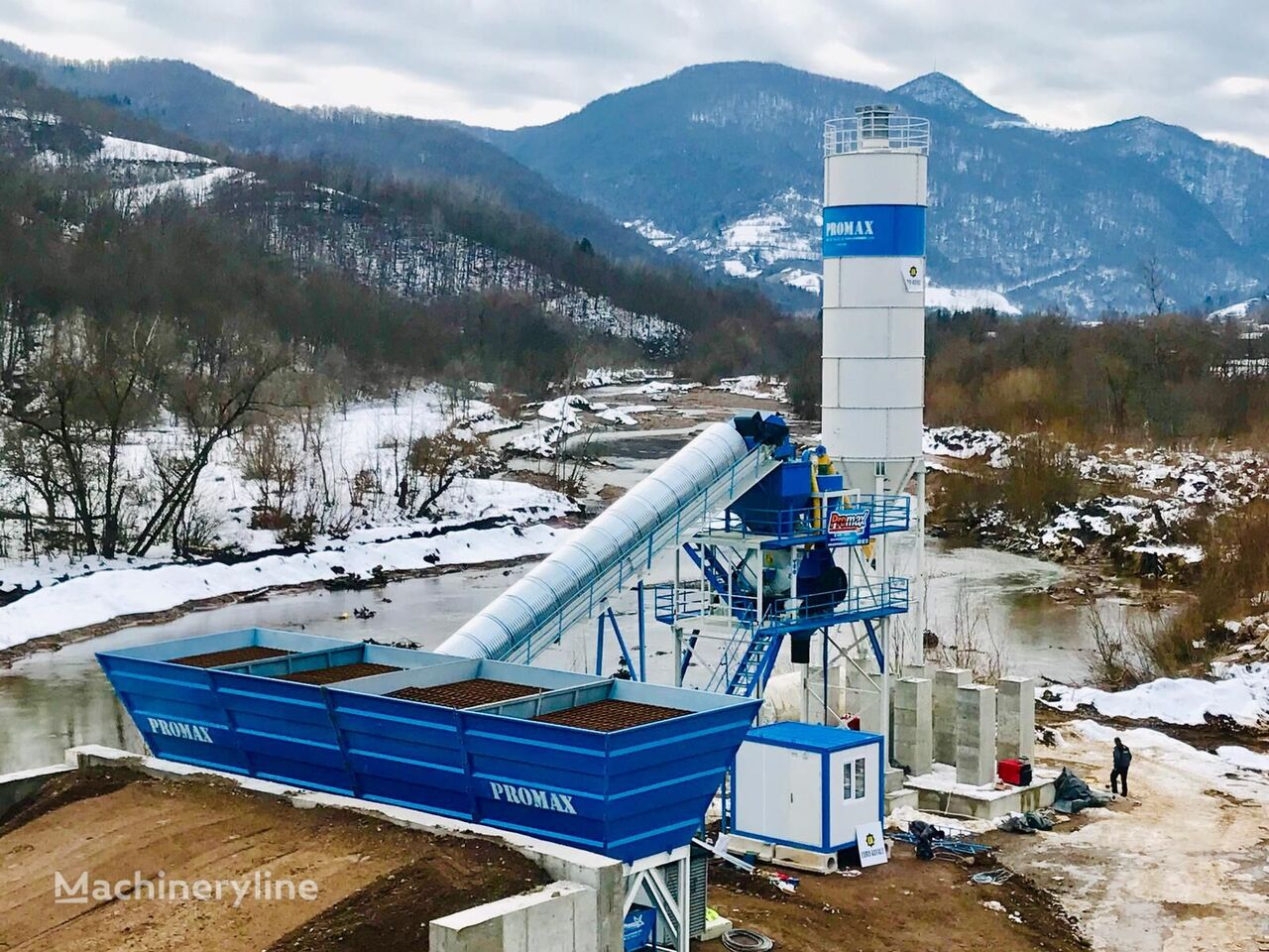 new PROMAX STATIONARY Concrete Batching Plant PROMAX S100 TWN (100m³/h) concrete plant