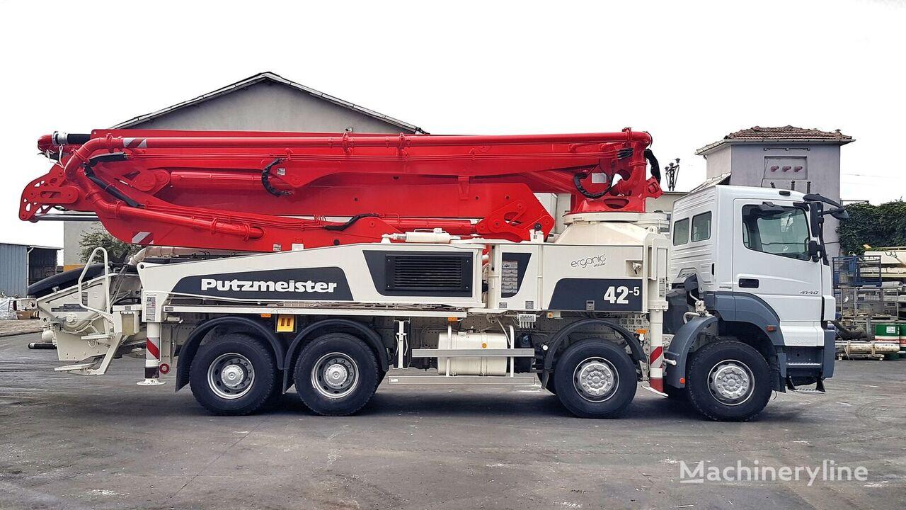Putzmeister BSF 42-5.16H on chassis MERCEDES-BENZ Axor 4140 8x4 - 2014 Putzmeister 42 METER concrete pump
