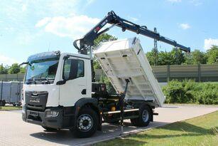 new MAN TGM 18.320 4x2 Euro6d Fassi 135 AC.0.24 e-dynami dump truck