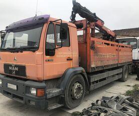 MAN 18.284 L89 HDS  flatbed truck