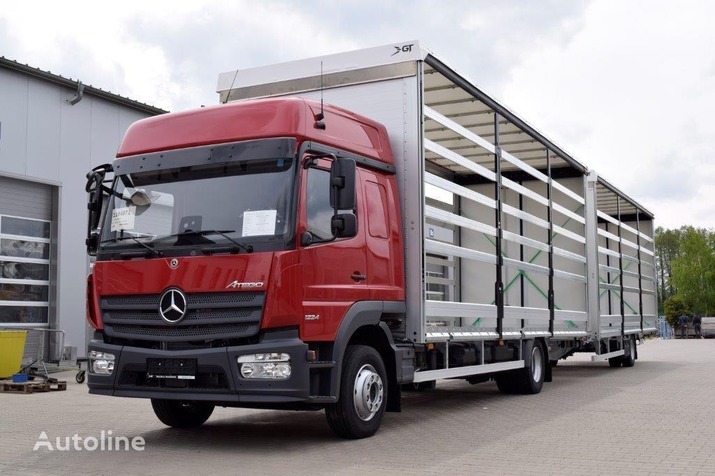 new MERCEDES-BENZ Atego 1224 L tilt truck + tilt trailer